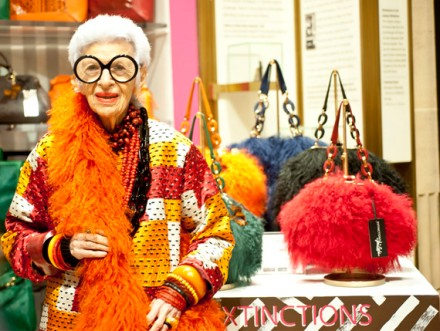 Iris Apfel Handbag Collection Extinction at Henri Bendel